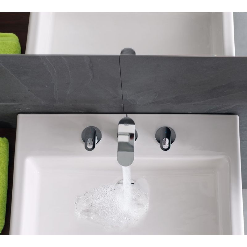 Grohe Bauloop 3 Hole Wideset Bathroom Faucet