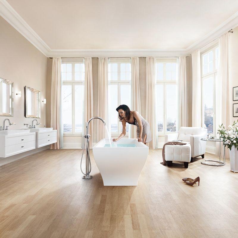 grohe grandera single handle freestanding bathtub faucet in chrome