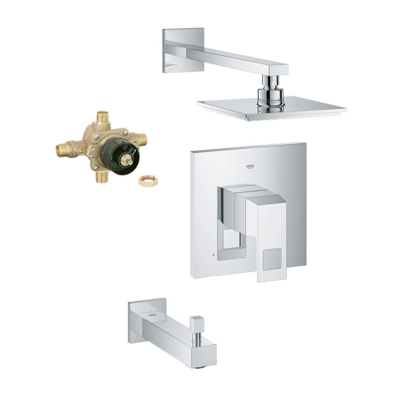 Buy Grohe Eurocube Bathtub And Shower Faucet With Rough-In Online ...