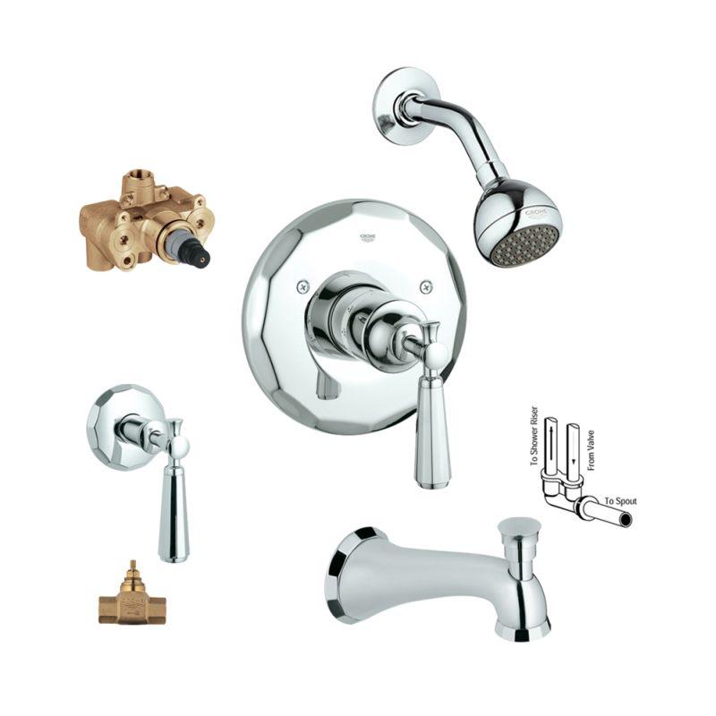 Buy Grohe Kensington Bathtub And Shower Valve Kit Online - Bath1.com