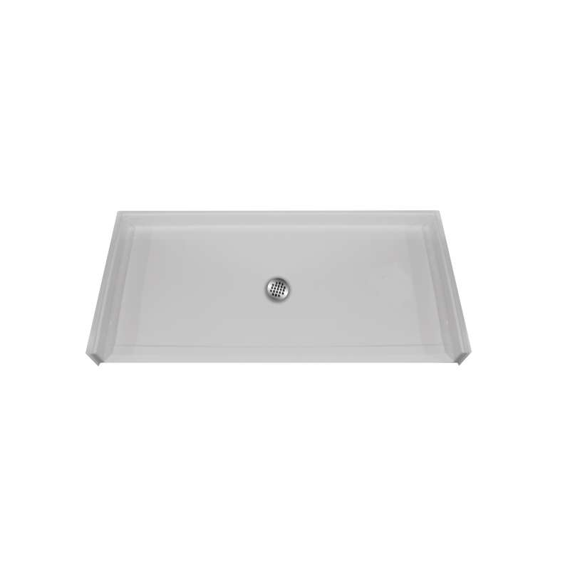 Hamilton MyPlace 62-in x 32-in Rectangular AcrylX Alcove Shower Base with Center Drain