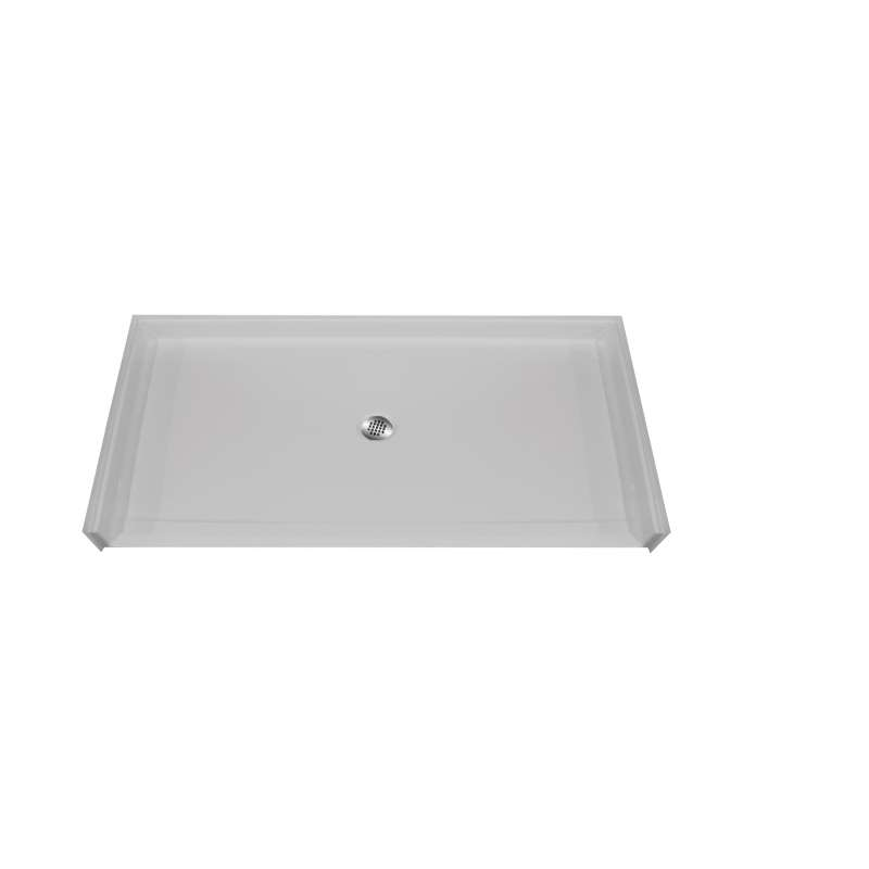Hamilton MyPlace 62-in x 38-in Rectangular AcrylX Alcove Shower Base with Center Drain