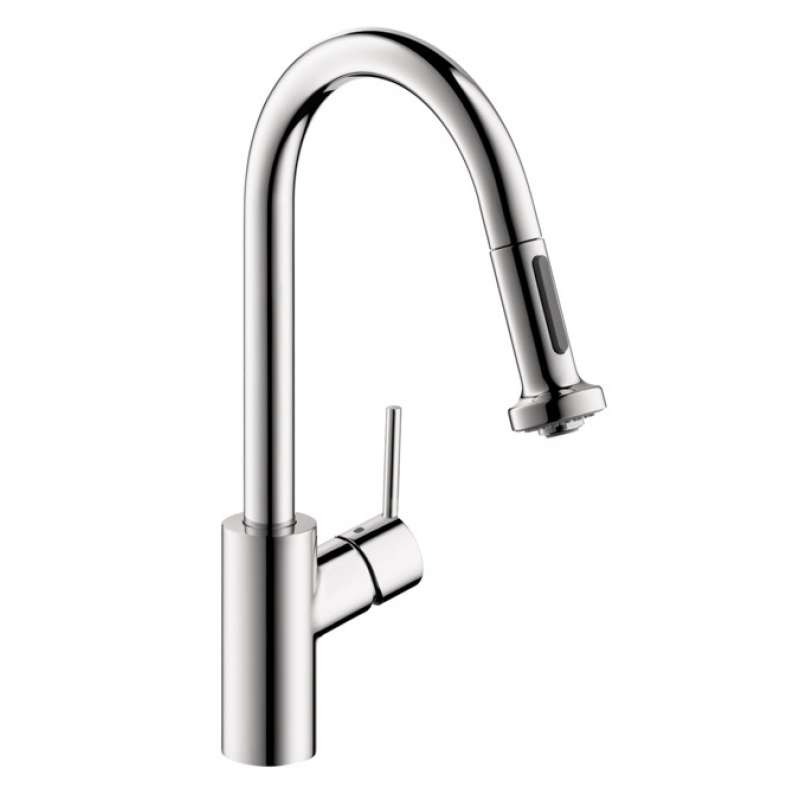 Hansgrohe Talis S2 HighArc Kitchen Faucet, 2-Spray Pull-Down, 1.5 GPM