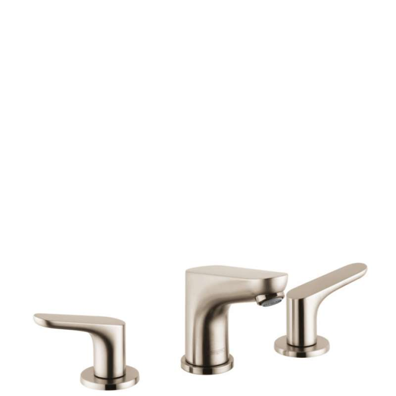 Hansgrohe Focus Widespread Faucet 100 with Pop-Up Drain, 1.2 GPM