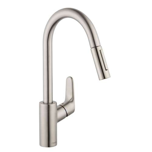 Hansgrohe Focus HighArc Kitchen Faucet, 2-Spray Pull-Down, 1.75 GPM