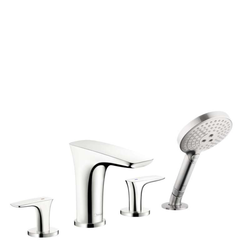 Hansgrohe PuraVida 4-Hole Roman Tub Set Trim with 1.75 GPM Handshower - In Multiple Colors