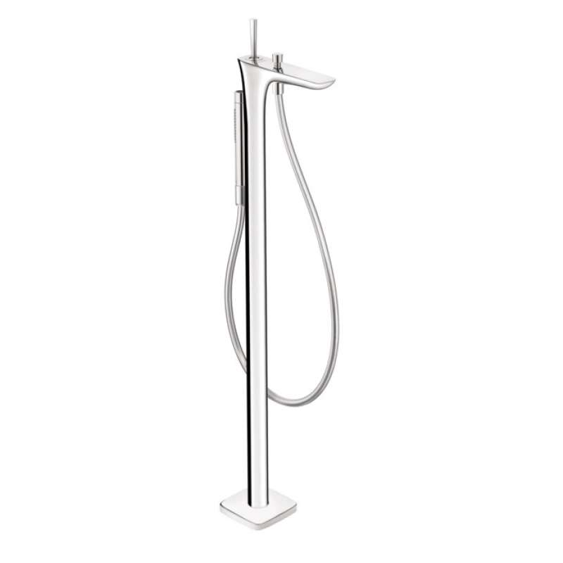 Hansgrohe PuraVida Freestanding Tub Filler Trim with 1.75 GPM Handshower