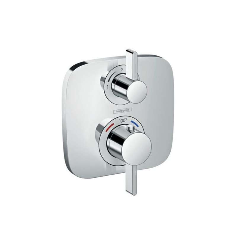 Hansgrohe Ecostat E Thermostatic Trim with Volume Control and Diverter - In Multiple Colors