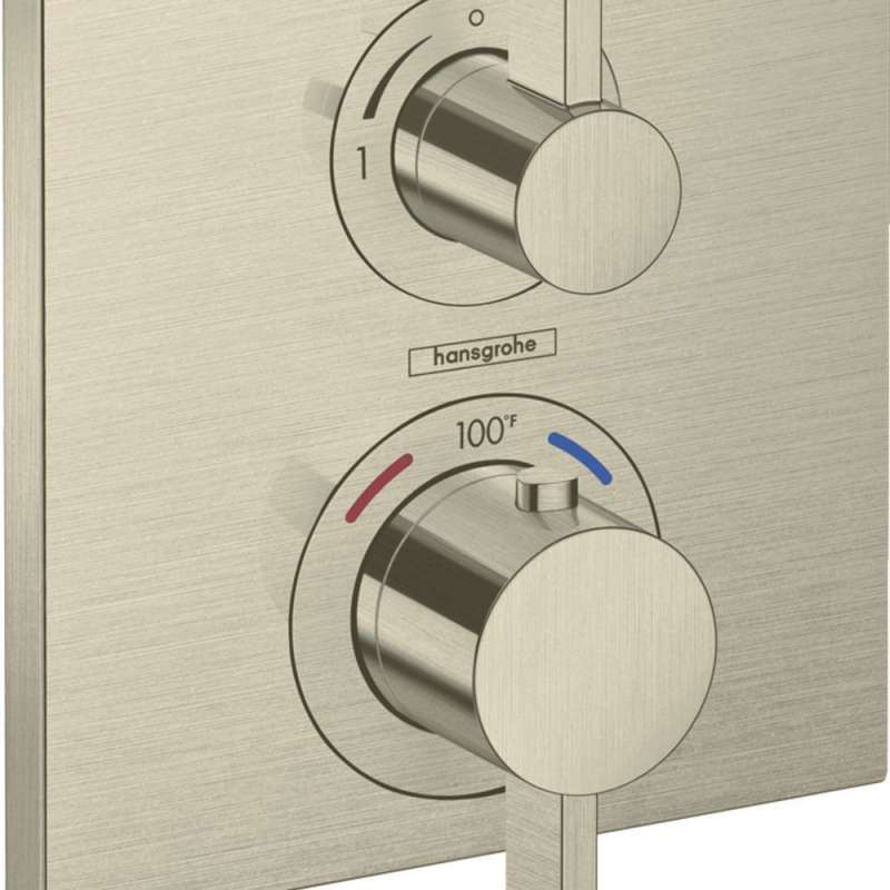 Hansgrohe Ecostat Square Thermostatic Trim with Volume Control