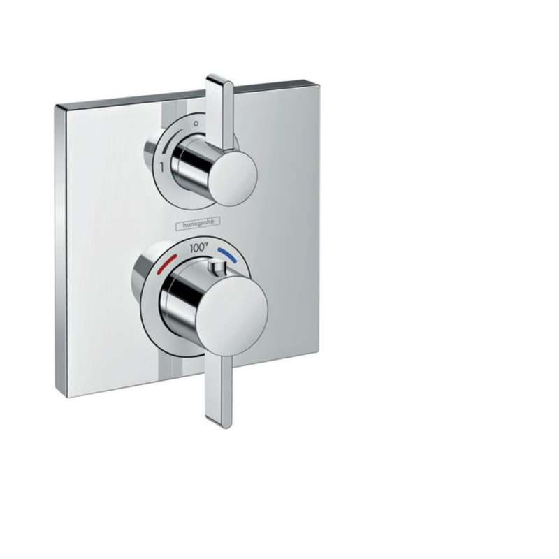 Hansgrohe Ecostat Square Thermostatic Trim with Volume Control and Diverter