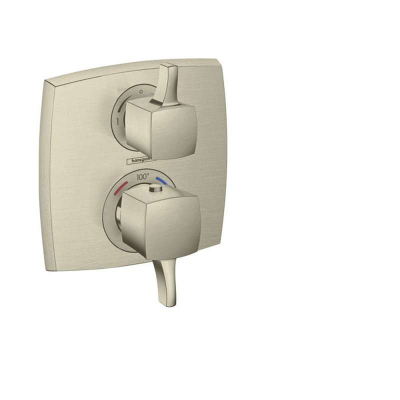 Hansgrohe Ecostat Classic Square Thermostatic Trim with Volume Control and Diverter
