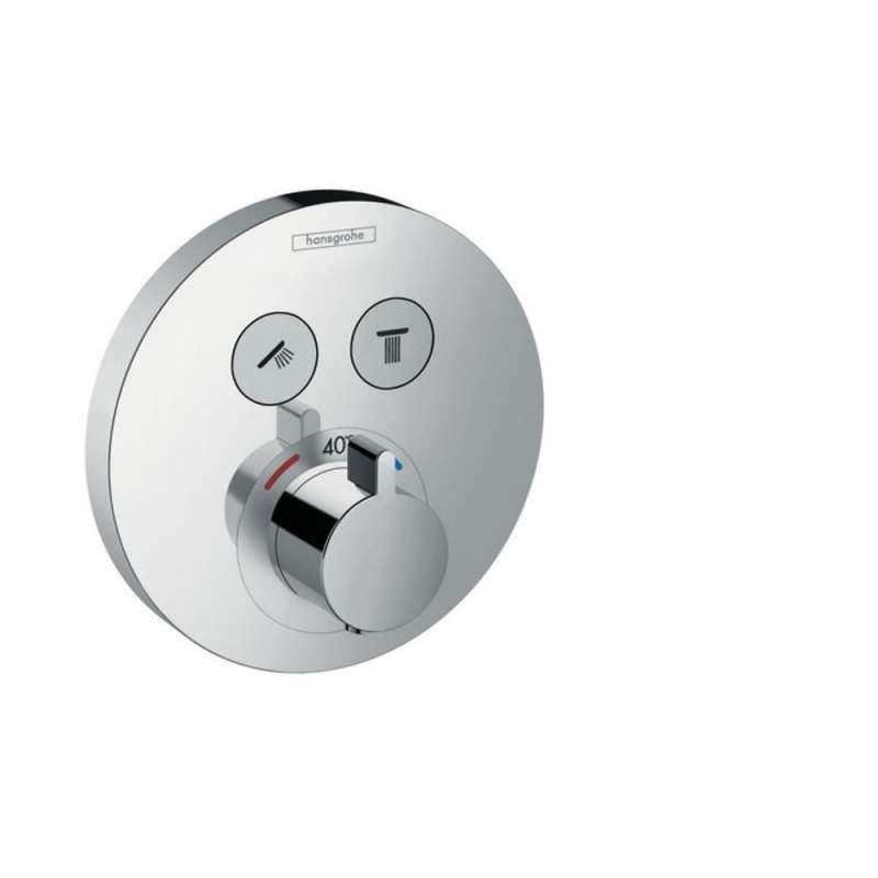 Hansgrohe ShowerSelect S Round Thermostatic Trim for 2 Functions