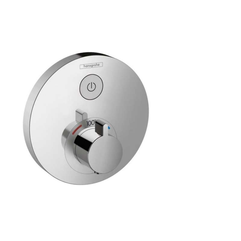 Hansgrohe ShowerSelect S Round Thermostatic Trim for 1 Function