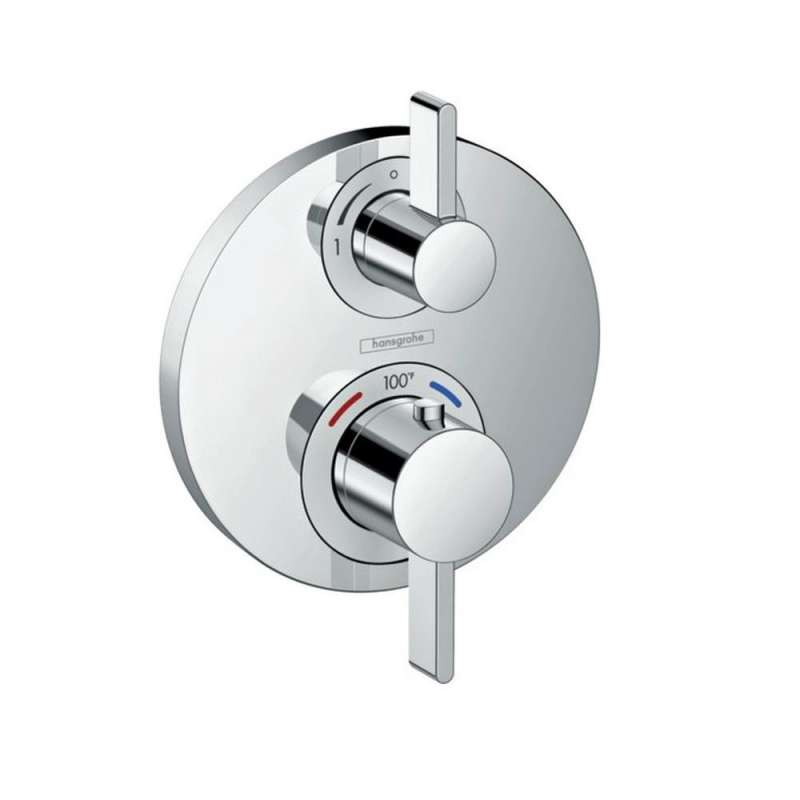 Hansgrohe Ecostat S Thermostatic Trim with Volume Control - In Multiple Colors