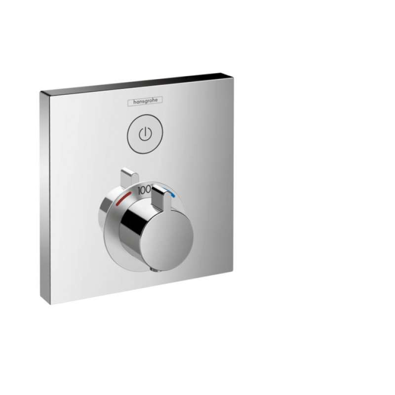 Hansgrohe ShowerSelect Square Thermostatic Trim for 1 Function - In Multiple Colors