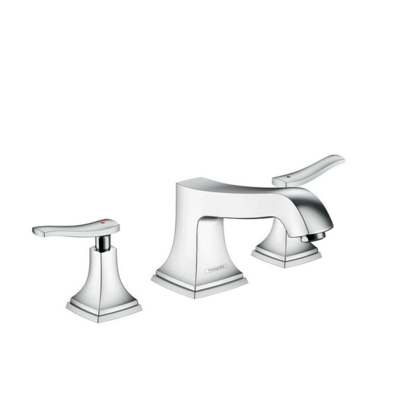 Hansgrohe Metropol Classic 3-Hole Roman Tub Set Trim with Lever Handles - In Multiple Colors