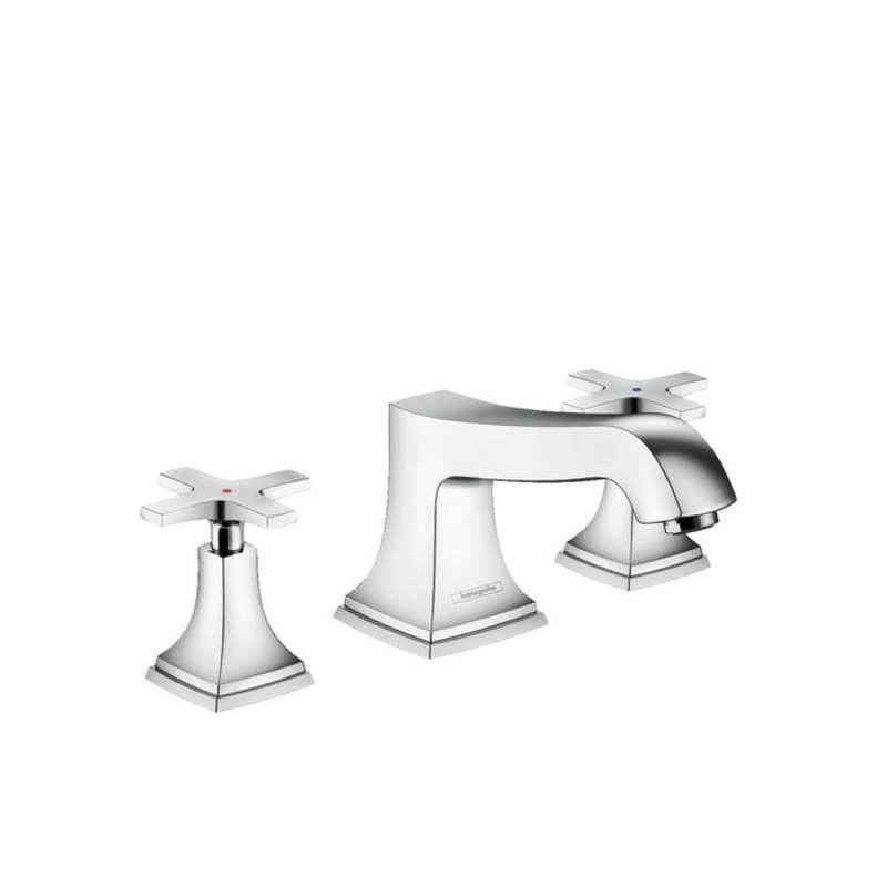 Hansgrohe Metropol Classic 3-Hole Roman Tub Set Trim with Cross Handles - In Multiple Colors