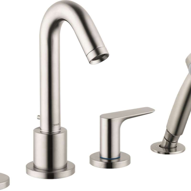 Hansgrohe Logis 4-Hole Roman Tub Set Trim with 1.8 GPM Handshower