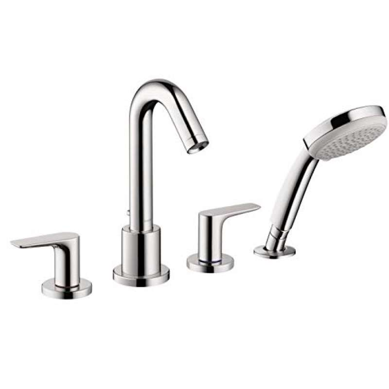 Hansgrohe Logis 4-Hole Roman Tub Set Trim with 2.0 GPM Handshower