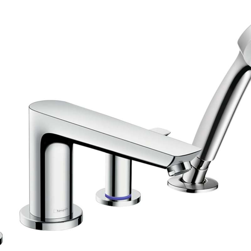 Hansgrohe Talis E 4-Hole Roman Tub Set Trim with 1.8 GPM Handshower - In Multiple Colors
