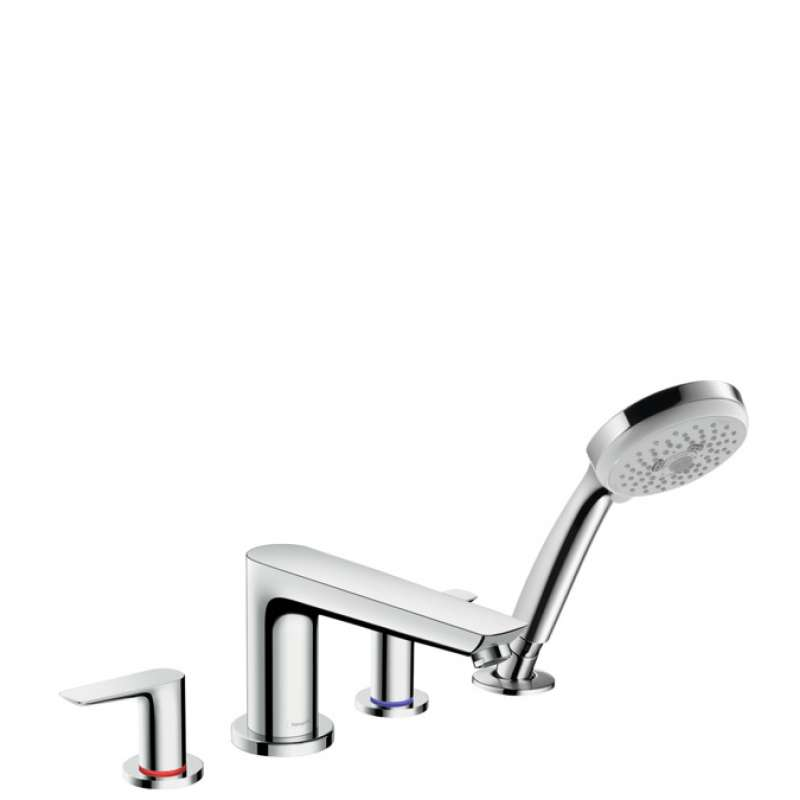 Hansgrohe Talis E 4-Hole Roman Tub Set Trim with 2.0 GPM Handshower - In Multiple Colors