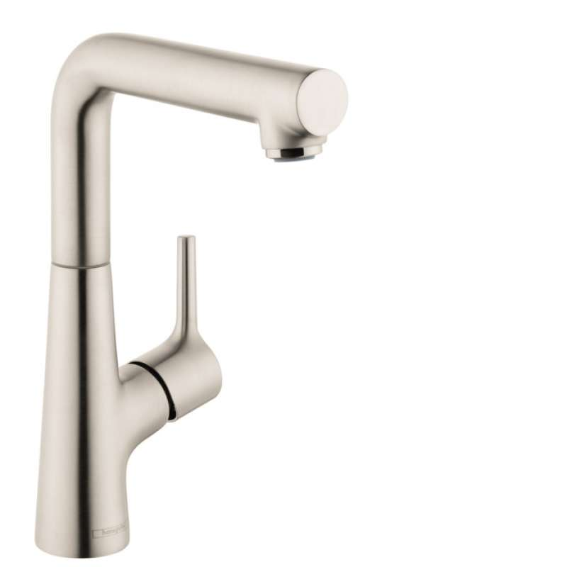 Hansgrohe Talis S Single-Hole Faucet 210 with Swivel Spout and Pop-Up Drain, 1.2 GPM