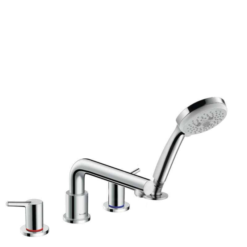 Hansgrohe Talis S 4-Hole Roman Tub Set Trim with 1.8 GPM Handshower