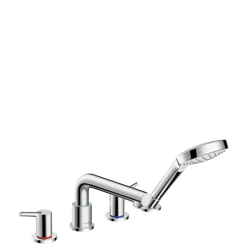 Hansgrohe Talis S 4-Hole Roman Tub Set Trim with 2.0 GPM Handshower - In Multiple Colors
