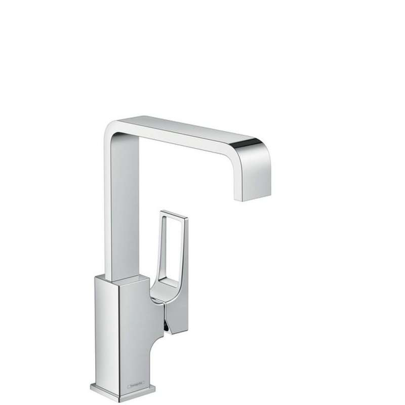 Hansgrohe Metropol Single-Hole Faucet 230 with Loop Handle and Swivel Spout, 1.2 GPM