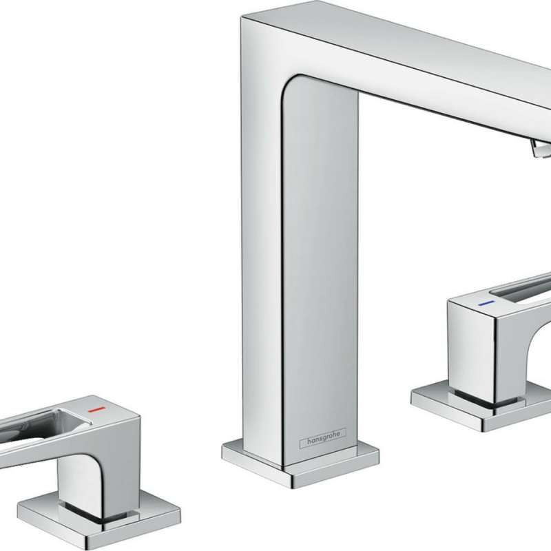 Hansgrohe Metropol Widespread Faucet 160 with Loop Handles and Pop-Up Drain, 1.2 GPM - In Multiple Colors