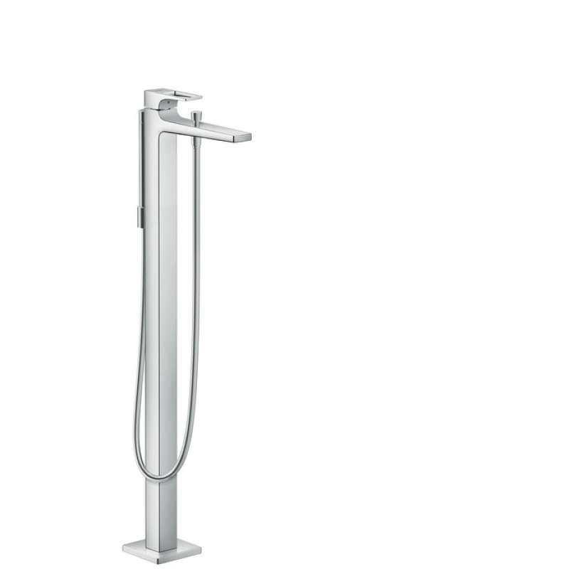 Hansgrohe Metropol Freestanding Tub Filler Trim with Loop Handle and 1.75 GPM Handshower - In Multiple Colors