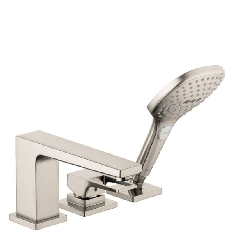 Hansgrohe Metropol 3-Hole Roman Tub Set Trim with Loop Handle and 2.0 GPM Handshower