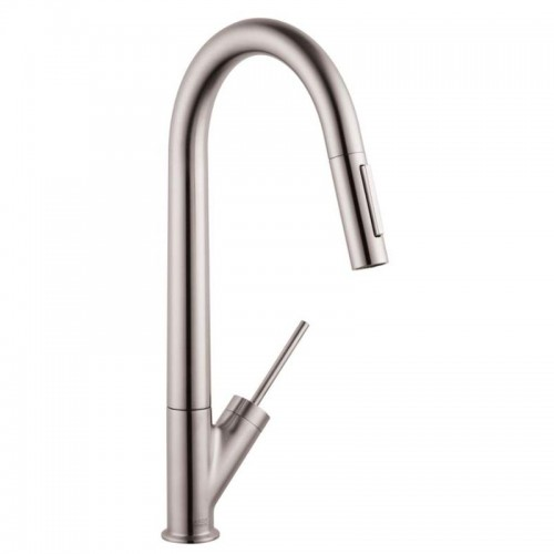Axor Starck Pull-Down Kitchen Faucet With High-Arc Spout