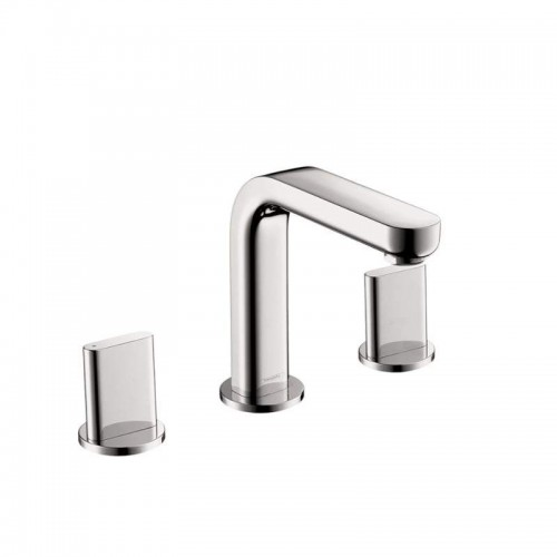 Hansgrohe Metris S Widespread Bathroom Faucet With Knob Handles