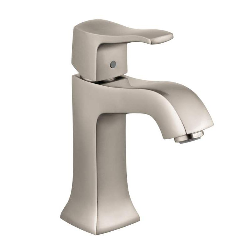 Hansgrohe Metris C Single Hole Bathroom Faucet With Lever Handle Brushed  Nickel