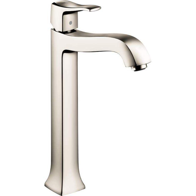 Hansgrohe Metris C Vessel Bathroom Faucet With Lever Handle Polished Nickel