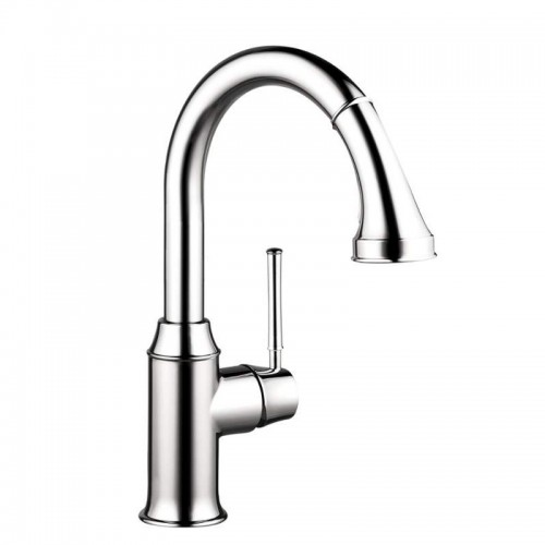 Hansgrohe Talis C Pull-Down Kitchen Faucet With High-Arc Spout, Magnetic Docking, And Locking Spray Diverter