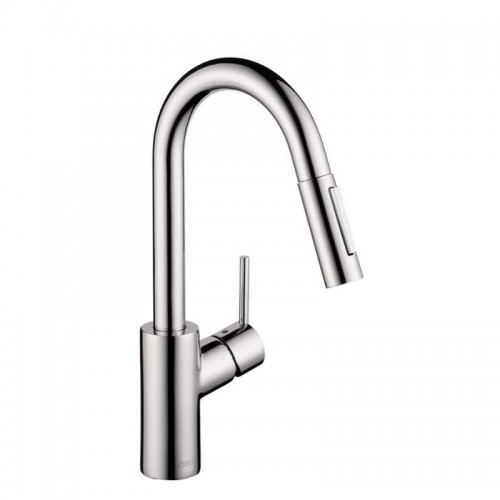 Hansgrohe Focus Pull-Down Kitchen Faucet With High-Arc Spout, Magnetic Docking, And Toggle Spray Diverter