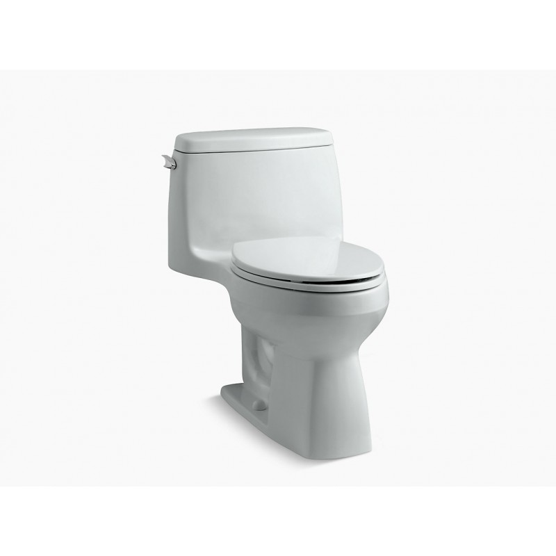 825aa9a67f8 Comfort Height One-Piece Compact Elongated 1.28 Gpf Toilet With Aquapiston  Flush Technology And Left-Hand Trip Lever in Ice Grey. Kohler. Sale Kohler  Santa ...