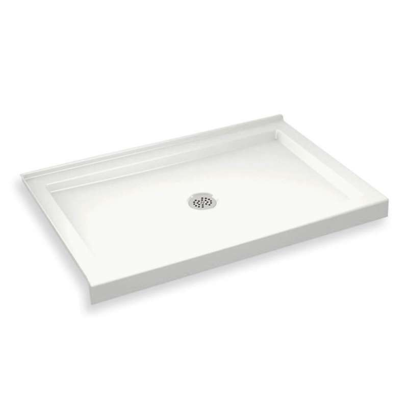 410002-502-001 - MAAX B3Round 48-in x 34-in Rectangular Acrylic Corner Left Shower Base with Center Drain