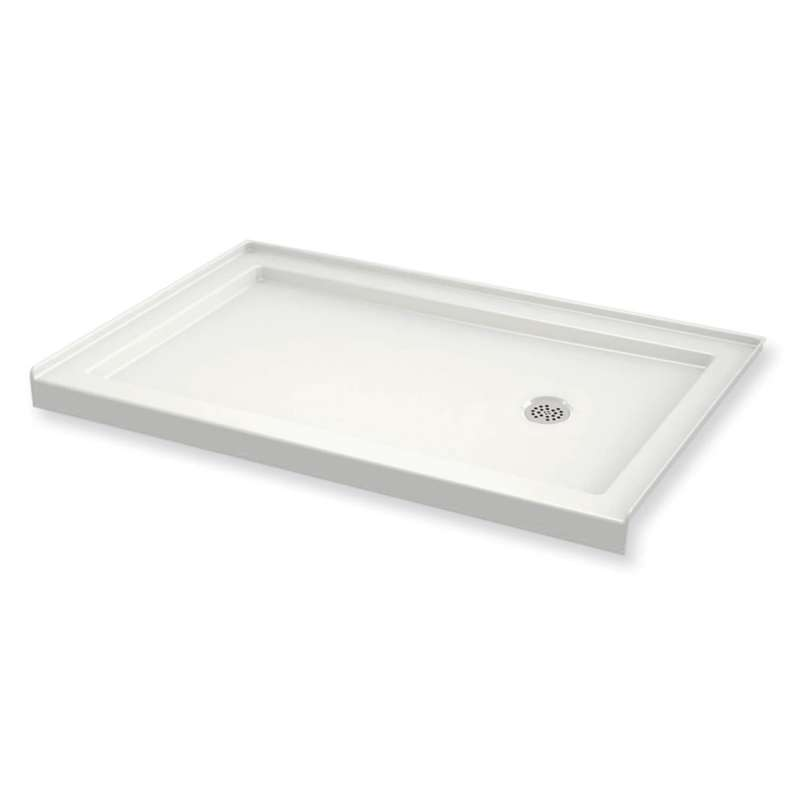 410004-R-501-001 - MAAX B3Round 60-in x 30-in Rectangular Acrylic Alcove Shower Base with Right Hand Drain
