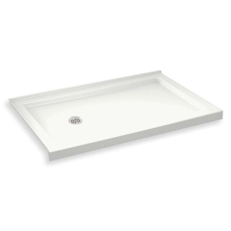 MAAX B3Round 60-in x 32-in Rectangular Acrylic Corner Left Shower Base with Left Hand Drain