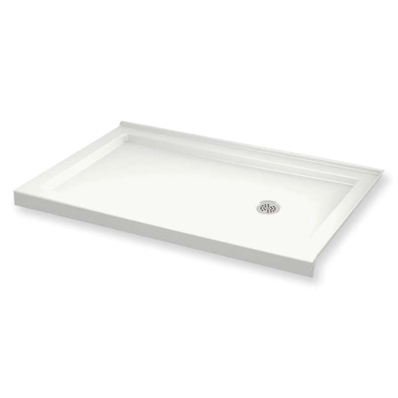 MAAX B3Round 60-in x 32-in Rectangular Acrylic Corner Right Shower Base with Right Hand Drain