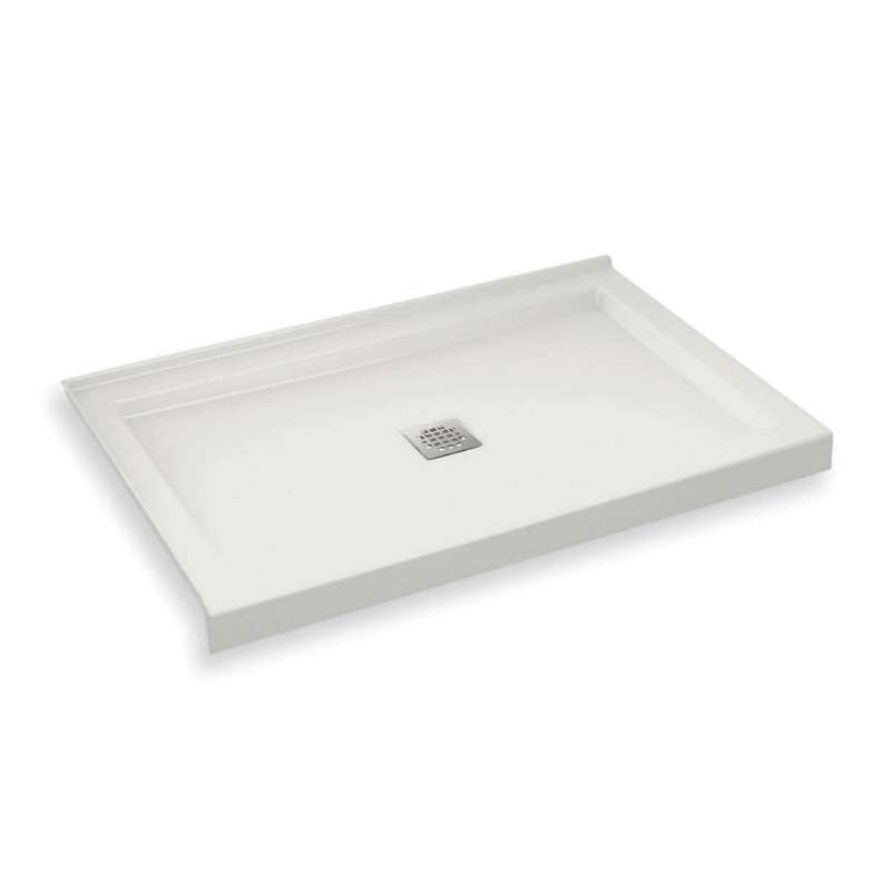 420002-502-001 - MAAX B3Square 48-in x 34-in Rectangular Acrylic Corner Left Shower Base with Center Drain