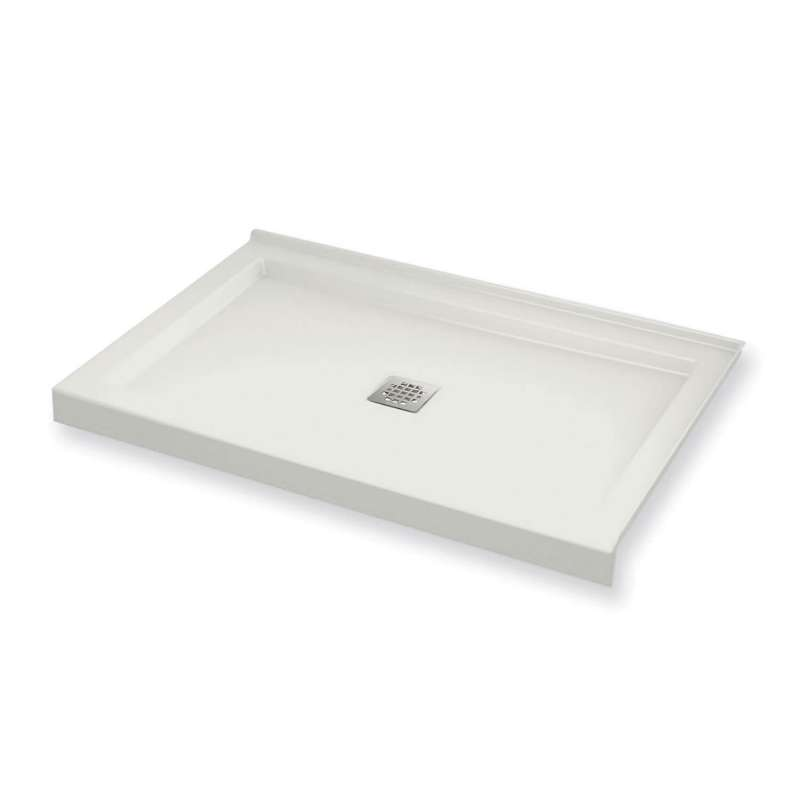 420002-503-001 - MAAX B3Square 48-in x 34-in Rectangular Acrylic Corner Right Shower Base with Center Drain