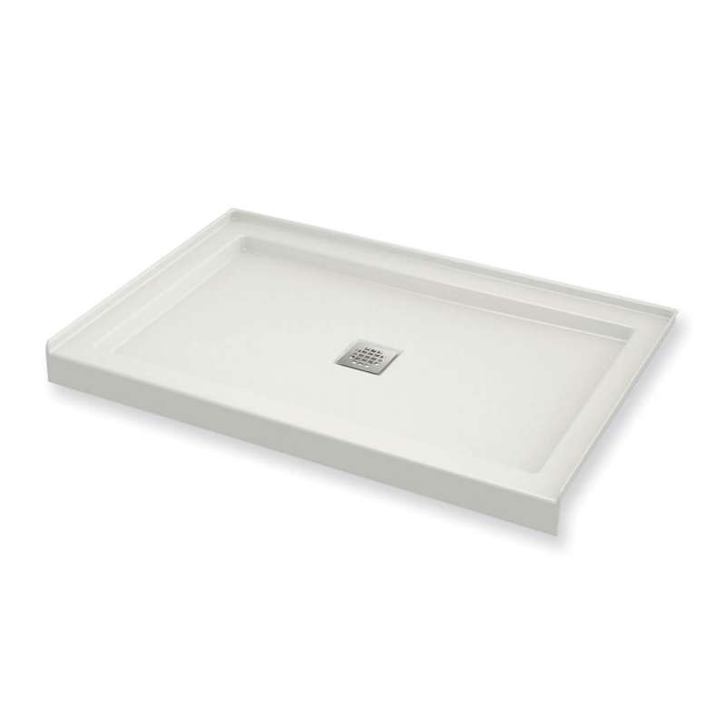 420003-501-001 - MAAX B3Square 48-in x 36-in Rectangular Acrylic Alcove Shower Base with Center Drain
