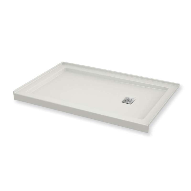 MAAX B3Square 60-in x 30-in Rectangular Acrylic Alcove Shower Base with Left Hand Drain