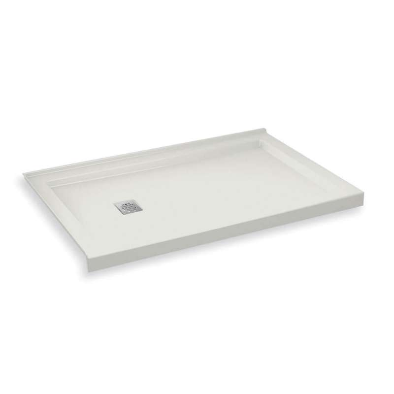 MAAX B3Square 60-in x 30-in Rectangular Acrylic Corner Left Shower Base with Left Hand Drain
