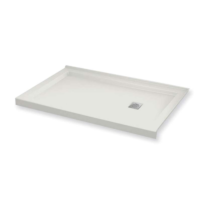 MAAX B3Square 60-in x 30-in Rectangular Acrylic Corner Right Shower Base with Right Hand Drain