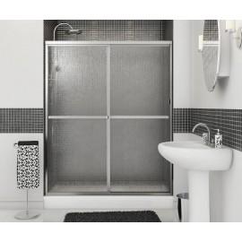 MAAX Polar Shower Dr 54-59 1/2 X 68 Raindrop Chrome